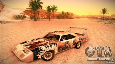 Plymouth Roadrunner Superbird Custom para vista lateral GTA San Andreas