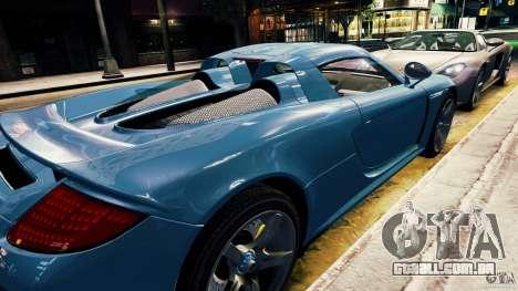 Porsche Carrera GT para GTA 4 vista de volta
