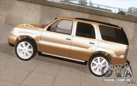 Cadillac Escalade 2004 para GTA San Andreas esquerda vista