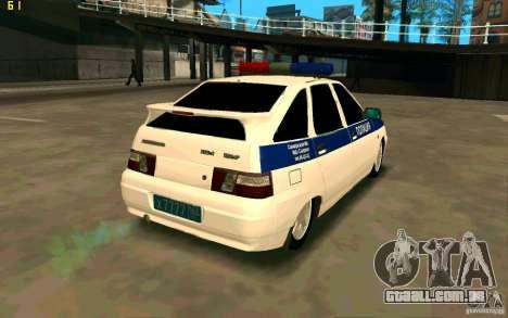 Polícia VAZ-2112 para GTA San Andreas traseira esquerda vista