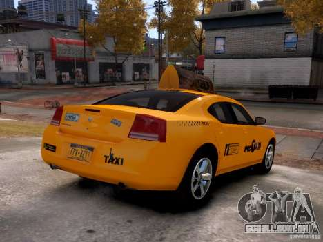 Dodge Charger NYC Taxi V.1.8 para GTA 4 vista de volta