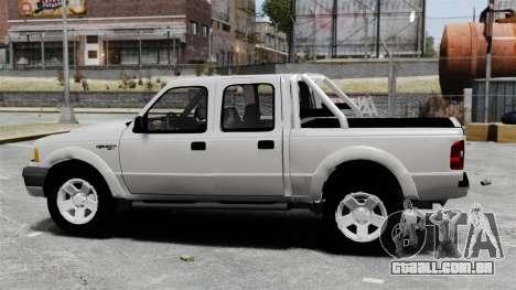 Ford Ranger 2008 XLR para GTA 4 esquerda vista