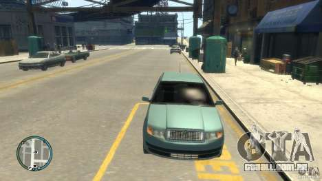 Skoda Fabia para GTA 4 vista de volta