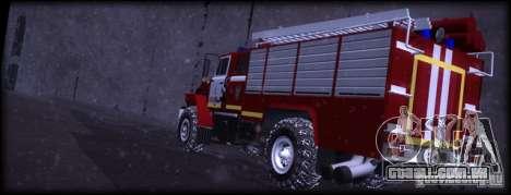 Ural 43206 AC 3.0-40 para GTA San Andreas traseira esquerda vista