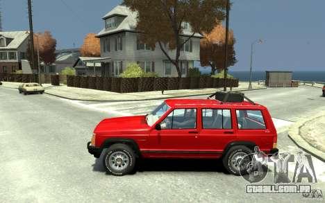 Jeep Cherokee 1984 para GTA 4 esquerda vista