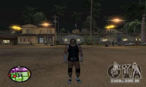 Triple H para GTA San Andreas por diante tela