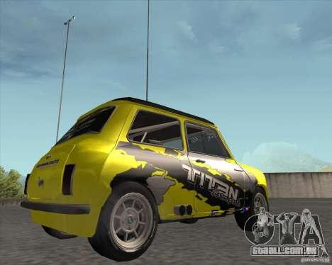 Mini Cooper S Titan Motorsports para GTA San Andreas vista direita