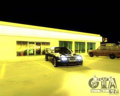 BMW E46 M3 GTR - Stock para GTA San Andreas traseira esquerda vista