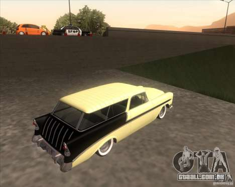 Chevrolet Bel Air Nomad 1956 custom para GTA San Andreas esquerda vista