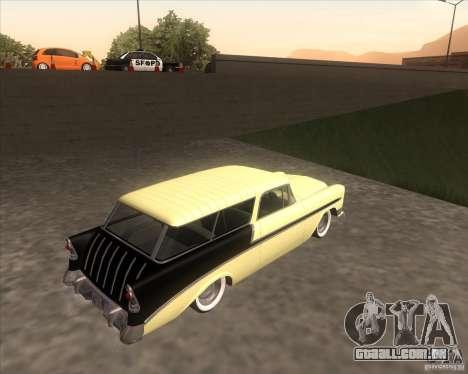 Chevrolet Bel Air Nomad 1956 custom para GTA San Andreas esquerda vista