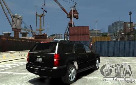 Chevrolet Suburban 2008 (beta) para GTA 4 vista direita