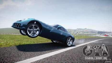 TVR Sagaris para GTA 4 vista inferior