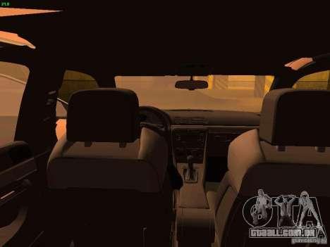 Audi S4 OEM para GTA San Andreas vista interior
