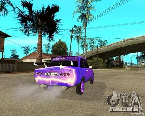 Porta dupla 2101 VAZ para GTA San Andreas traseira esquerda vista