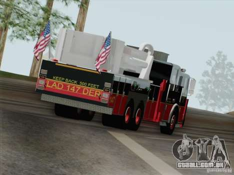 Seagrave Marauder II. SFFD Ladder 147 para GTA San Andreas vista inferior