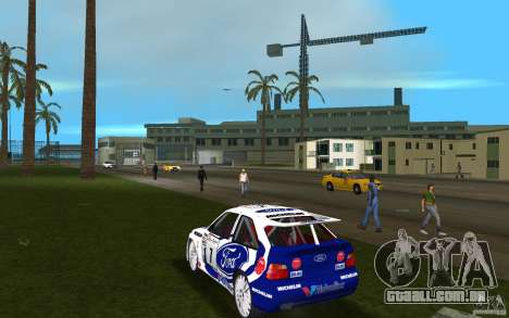 Ford Escort Cosworth RS para GTA Vice City vista traseira esquerda