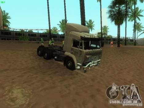 KAMAZ 6460 para GTA San Andreas vista interior