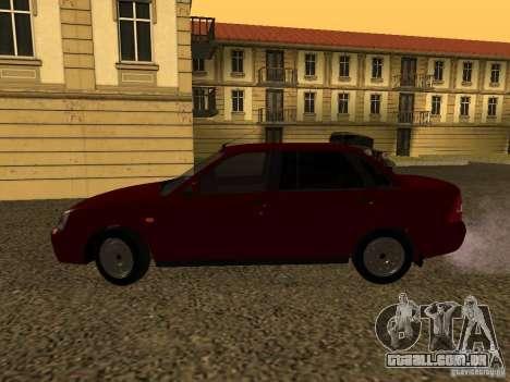 LADA 2170 Premier para GTA San Andreas traseira esquerda vista