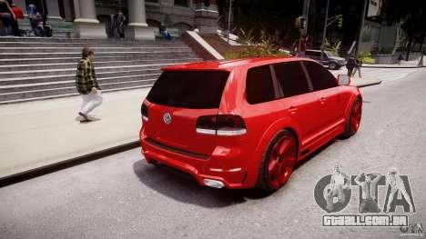 Volkswagen Touareg R50 2008 Tune (Beta) para GTA 4 traseira esquerda vista
