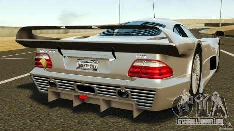 Mercedes-Benz CLK GTR AMG para GTA 4 traseira esquerda vista