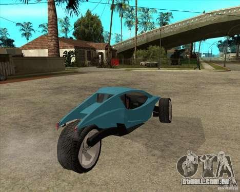 AP3 cobra para GTA San Andreas traseira esquerda vista