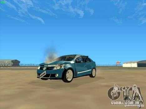 Volkswagen Voyage Comfortline 1.6 2009 para GTA San Andreas vista superior