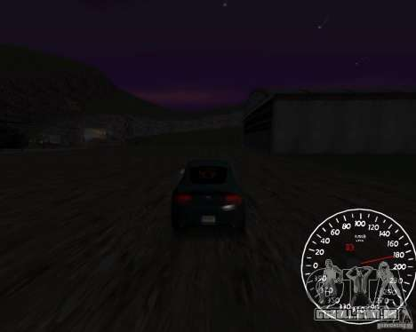 Beta velocímetro 1.5 para GTA San Andreas segunda tela