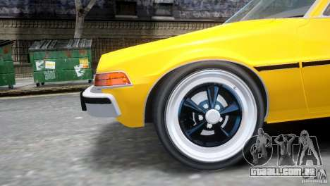 AMC Pacer 1977 v1.0 para GTA 4 vista superior