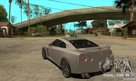 Nissan GT-R R35 2008 para GTA San Andreas traseira esquerda vista