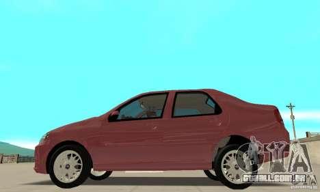 Fiat Siena HLX 1.8 Flex para GTA San Andreas vista traseira