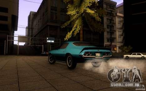 Chevrolet Camaro Z28 para GTA San Andreas traseira esquerda vista
