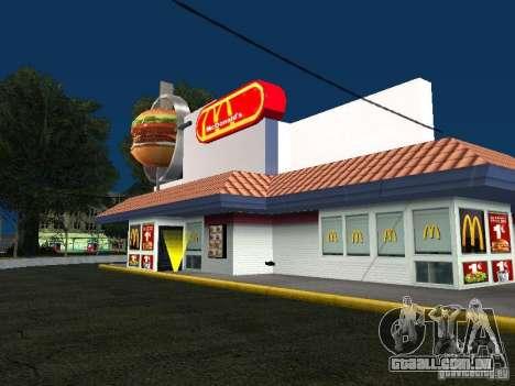 Mc Donalds para GTA San Andreas