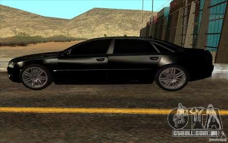 Audi A8l W12 6.0 para GTA San Andreas vista interior