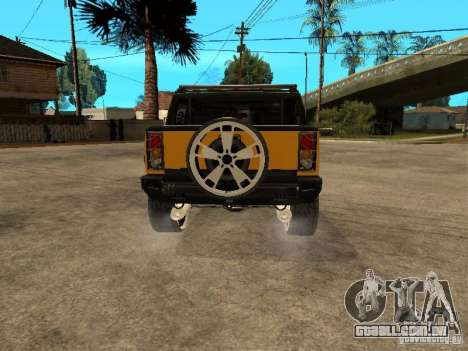 Hummer H2 4x4 diesel para GTA San Andreas vista direita