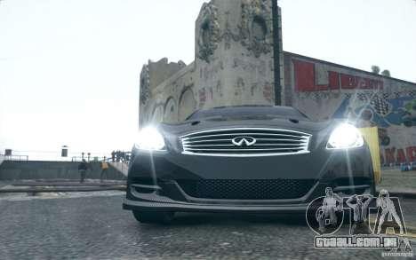 Infiniti G37 Coupe Carbon Edition v1.0 para GTA 4 esquerda vista