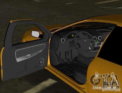 Lada Granta v2.0 para GTA Vice City vista interior