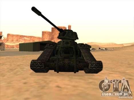 Tanque do jogo TimeShift para GTA San Andreas esquerda vista
