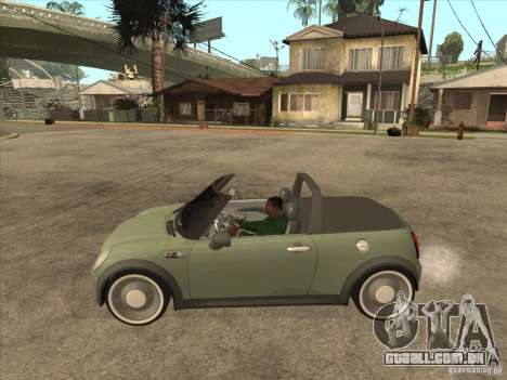 Mini Cooper S Cabrio para GTA San Andreas traseira esquerda vista