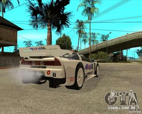 2001 Honda Mobil 1 NSX JGTC para GTA San Andreas traseira esquerda vista