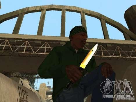 Armas de ouro de Pak para GTA San Andreas terceira tela
