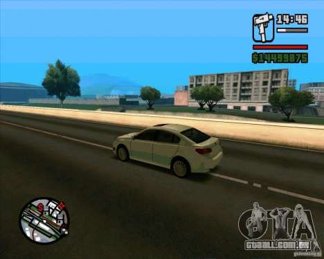 Subaru Legacy 2010 v.2 para GTA San Andreas traseira esquerda vista