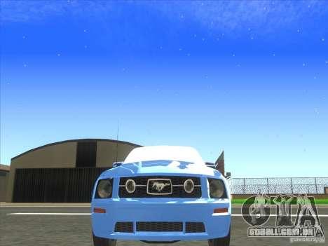 Ford Mustang Pony Edition para GTA San Andreas vista interior