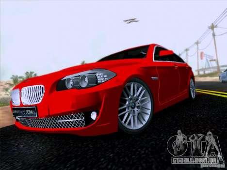 BMW 550i 2012 para GTA San Andreas esquerda vista