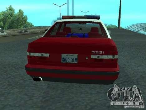 BMW 535i E34 Police para GTA San Andreas vista direita