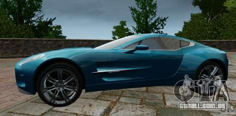 Aston Martin One-77 2012 para GTA 4 esquerda vista