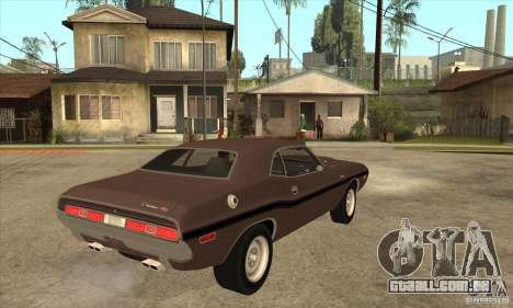 Dodge Challenger R/T Hemi 426 para GTA San Andreas vista direita
