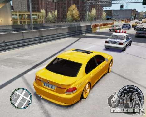 BMW Alpina B7 para GTA 4 vista interior