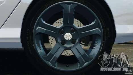 Peugeot 308 GTi 2011 v1.1 para GTA 4 vista inferior