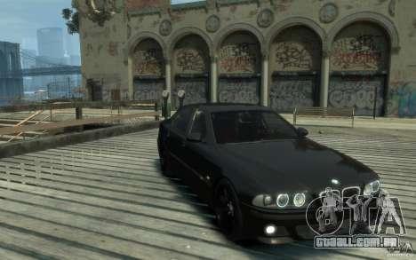 BMW M5 E39 para GTA 4 vista de volta