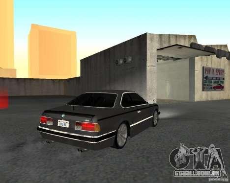 BMW M6 E24 para GTA San Andreas esquerda vista